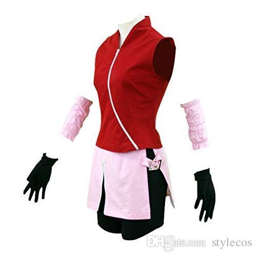일본 애니메이션 코스프레 Shippuden Haruki Sakura Costume