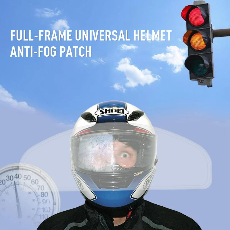 Universal-Motorrad-Sturzhelm-Objektiv Ultra Clear Anti-Fog-Patch-Folie Motorrad Zubehör Motocross Schutz Gears Anti-Fog-Patch-Film