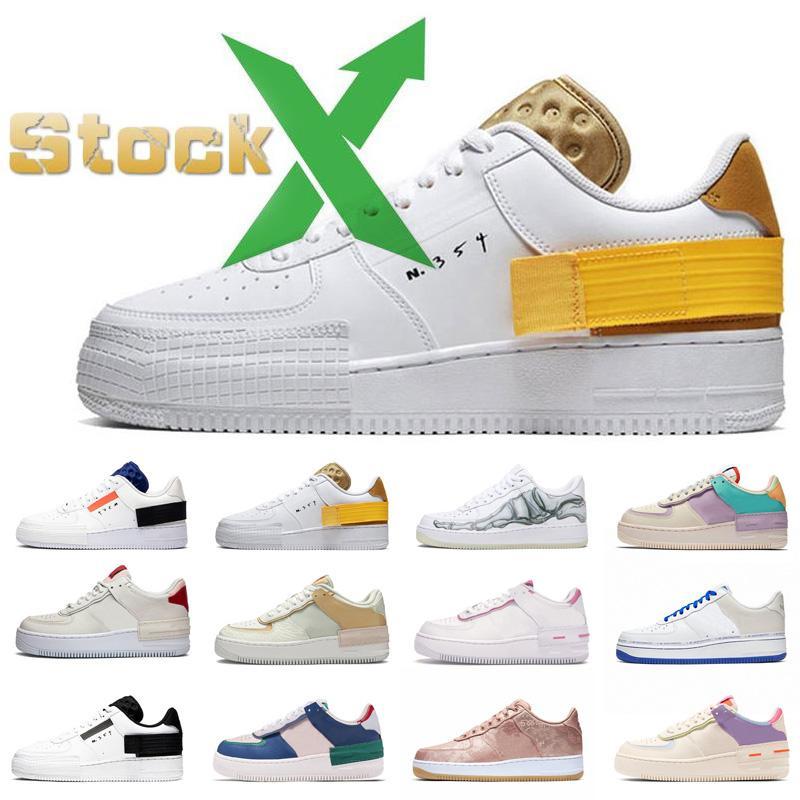 Los nuevos zapatos del monopatín clásico de la manera Dunk 1 Utilidad Blanca Triple Negro Volt lino Mystic Marina de las zapatillas de deporte de diseño de los zapatos ocasionales de la plataforma US11