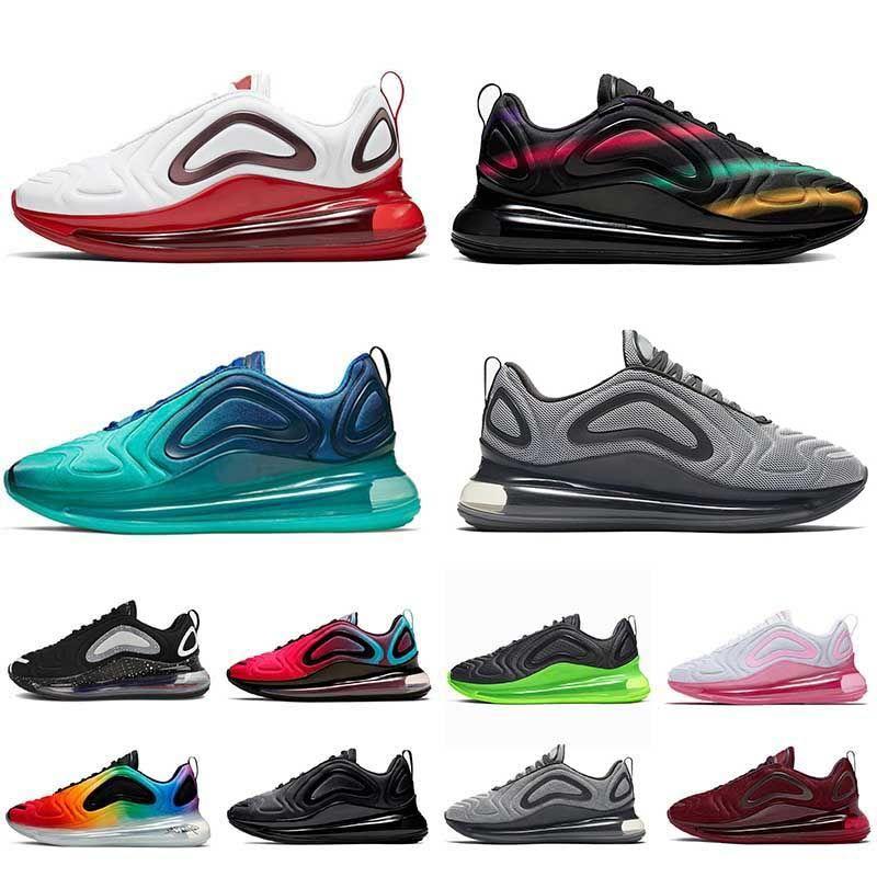 2020 العلامة التجارية الاحذية الرجال النساء أحذية nike air max 720 البحر الغابة السوداء فرط لدت الذئب الرمادي يكون صحيحا الكهربائية الخضراء مصمم للمرأة الرياضية حذاء رياضة