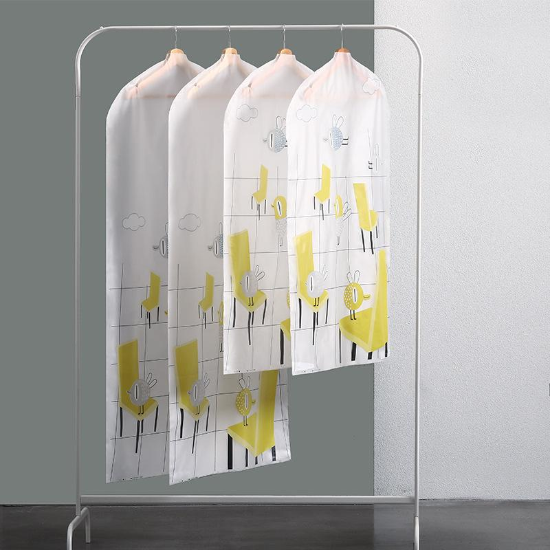Capa de proteção Impresso dos desenhos animados PEVA Craft Caso prova de umidade impermeável para T-shirt roupa Garment Brasão Jacket Blazer Protect Bag
