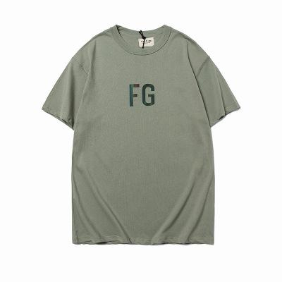 US 2020 Designer Fashion Designer FOG Tee Mens T-shirt timore di Dio a maniche corte FG Army Green Olive Green riflettente 3M allentati casuali Europa