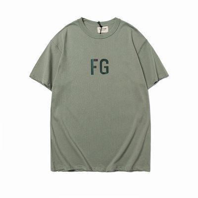 US 2020 Designer Mode FOG T Herren Designer-T-Shirt FEAR OF GOD kurzärmelige FG Armee-Grün Olivgrün Reflektierende 3M beiläufiges loses Europa