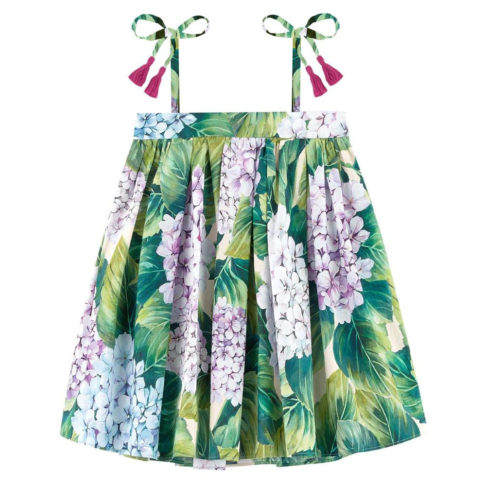 Summer Style Girl Clothing Casual Dress Fashion Baby Flowers Children Designer Kids Clothes Kids Baby Girls Party Dress Nice J190615