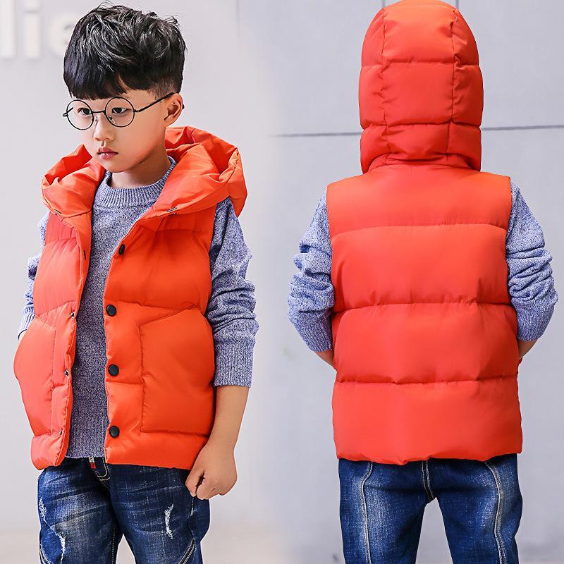 Childrenswear BAMBINO inverno Gilet 2020-stile coreano nuovi bambini di stile spessa maglia di Big Boy cotone imbottito vestiti Vest Waistcoa