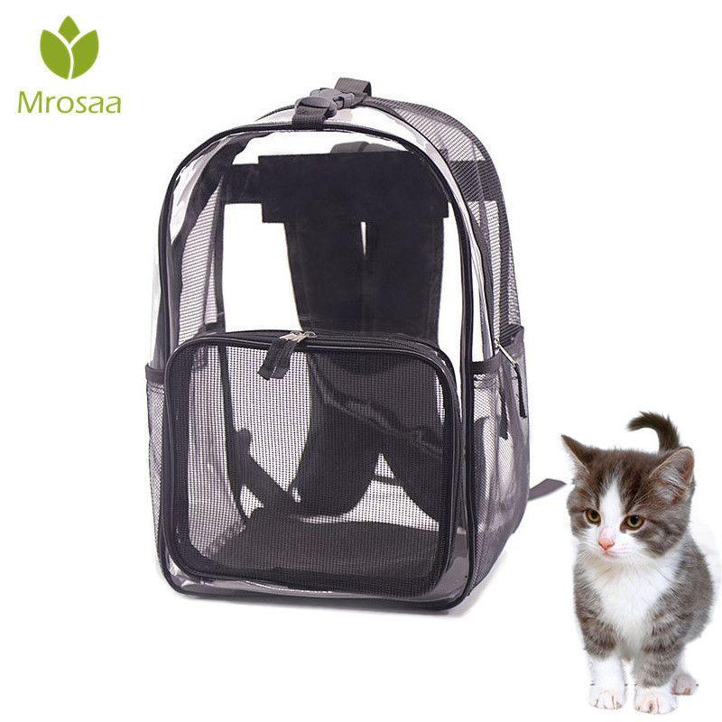 Pet Dog Cats Carrier Bags Safe Carry House Cat Puppy Bag Dog Transpirable Dog Basket Mochila Pet Products Travel Bag Rabbit Cage Y19061901