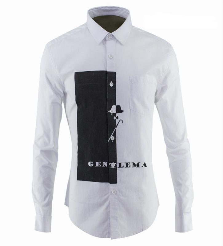 Oxford Perles terre Gao fin lavage à haute température Filigrane Fleur Homme Shirt Coton Tide Marque Wear pour hommes T-shirt