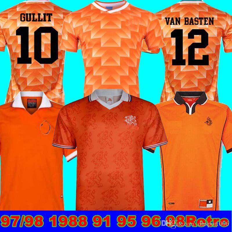2000 2002 1988 1995 1998 هولندا ريترو جيرسي لكرة القدم ماركو فان باستن 12 كرة القدم قميص سيدورف بيركامب هولندا 1988 خوليت ريترو جيرسي
