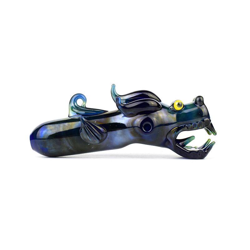 2019 nuovo design di alta qualità in vetro a mano tubo di vetro tubo di fumo tubo tubo forma del drago fortunato