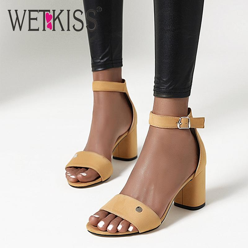 WETKISS Plus Size Ladies Sandals Thick