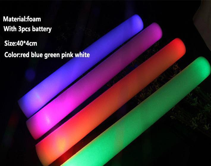 LED 빛 스틱 새로운 폼 소품 콘서트 파티 깜박이 LED 빛 빛나는 스틱 Christams 축제 어린이 완구 선물 DH0323