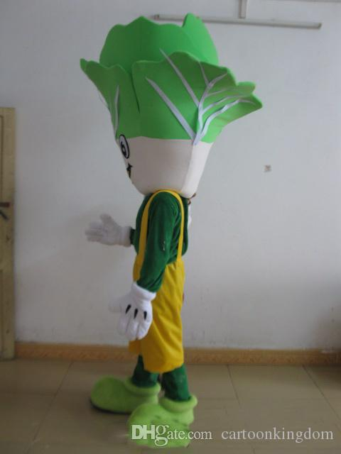 2019 Factory direct sale green vegetables cabbage mascot costume for adult to wear for sale