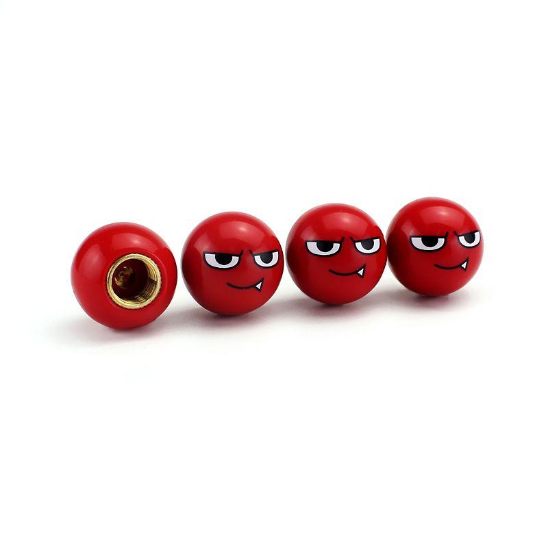 2020 Yeni Stil Kırmızı şeytan küresel vana kapağı Araç Lastiği Vana Kök Caps Oto Jant Dekorasyon Bakır Çekirdek Lastik hava geçirmez kapak Aksesuarlar Evrensel