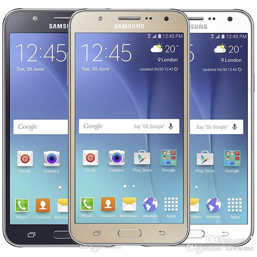 Recuperado Original Samsung Galaxy J7 J700F Dual SIM 5,5 polegadas tela LCD 1pcs Octa Núcleo de 1,5 GB RAM 16GB ROM 13MP 4G LTE grátis DHL
