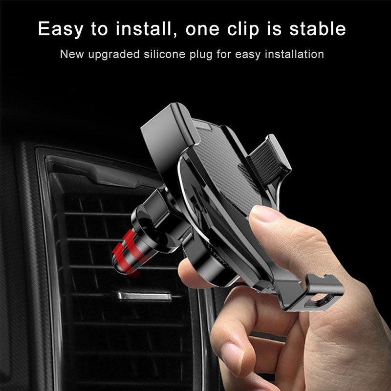 Carro sem fio Carregador M8 carregadores automáticos sensor para iPhone Xs Max Xr X Samsung S10 S9 inteligente infravermelho carregamento rápido Telefone titulares carro