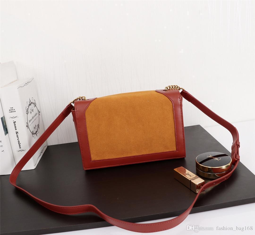 Neue Art und Weise klassische Frauen-Handtaschen Umhängetasche Messenger Bag Echtes Leder Qualitäts-Entwerfer-Frauen-Weinlese-Bügel-Schulter-schwarze Tasche 24cm