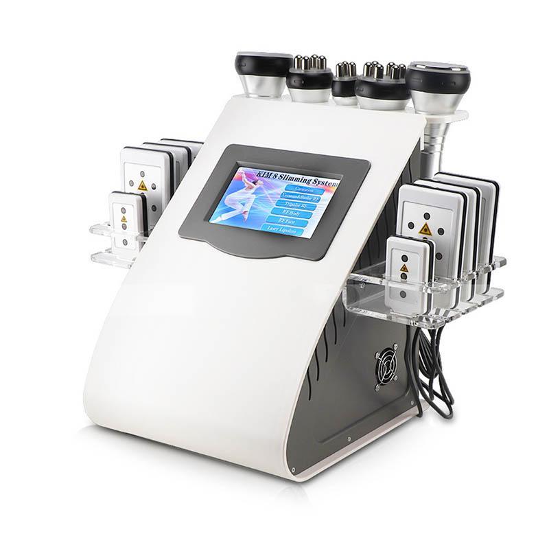 Neuer Ankunfts-Modell 40k Fettabsaugung mit Ultraschall Cavitation 8 Pads Laser Vacuum RF Hautpflege Salon Spa Schlankheits-Maschine Schönheit Ausrüstung