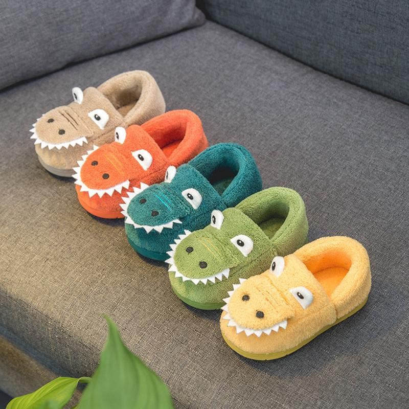 Unisex Toddler Kids Slippers Shoes for Boys Girls House Slipper Cute Cartoon Warm Shoes