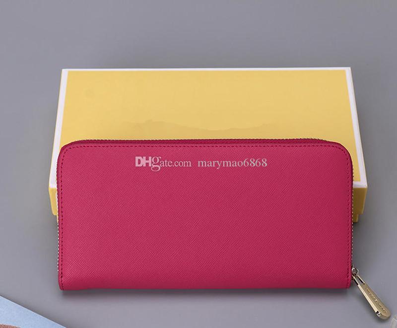 Famoso cuero genuino cremallera billetera larga alta calidad famosos grandes diseñadores embrague bolso de mujer bolso de hombro bolso monedero