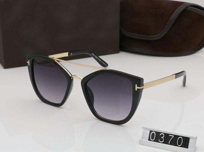 2019 Yeni Moda Güneş Gözlüğü Adam Kadın Gözlük Tasarımcı Kare Güneş Gözlükleri UV400 Lensler Trend Güneş Gözlüğü TF0370 Kutusu + İndirim