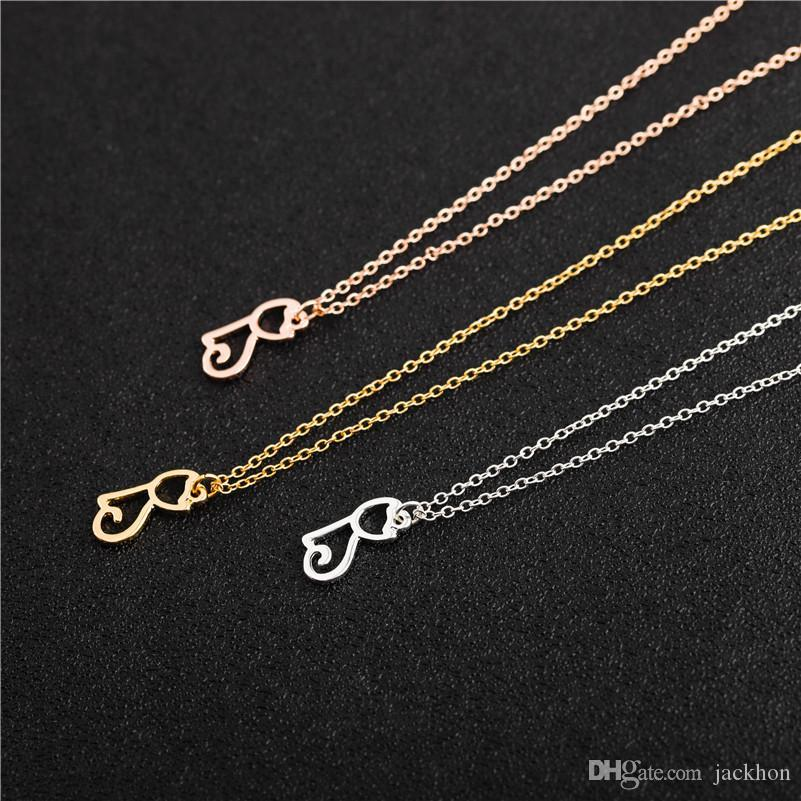 10PCS Cute Pet Cat Necklace Hollow Outline Minimalist Small Animal Lovely Pussy Kitty Cat Pendant Chain Necklaces for Women Couple