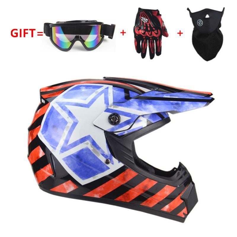 Hediye Olarak Tam Yüz motosiklet Kask Klasik bisiklet MTB DH yarış kask motokros yokuş aşağı bisiklet kaskı Gözlüğü