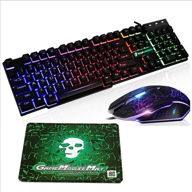 T6 Rainbow Backlit Usb Wired Gaming Keyboard Mouse Pad Set For Ps4 Ps3 Xbox Pc Best Wireless Keyboard Best Wireless Keyboards From Mand 1 24 12 Dhgate Com