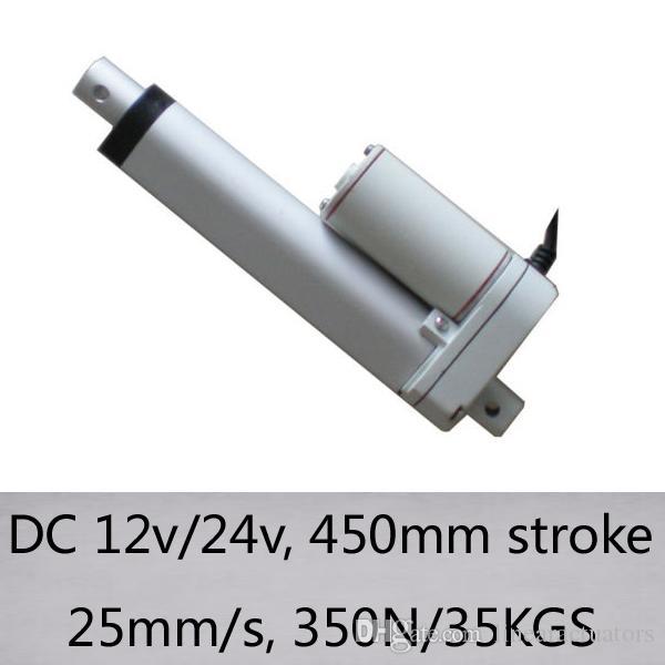 не 18inch / 450мм мини-тактный 25 мм / с высокой скоростью без нагрузки 350N / 35kgs нагрузки DC 12V / 24V электрический линейный привод