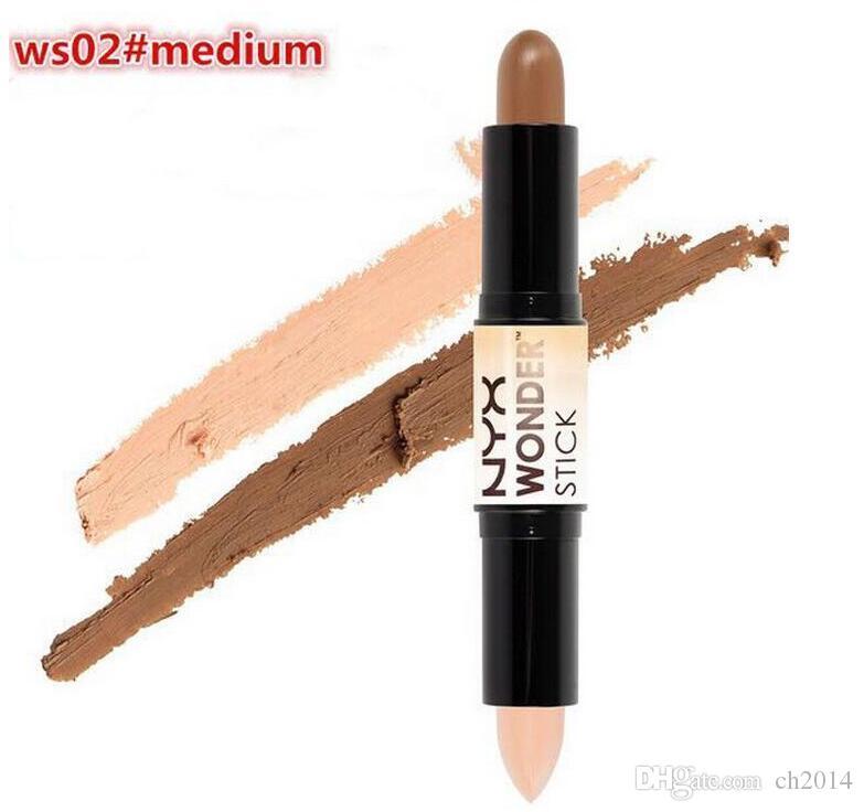 Hot New Maquiagem Destaques e contornos Shade Stick Light Medium Profundo Universal Nyx Corretionador 4Colors Face Foundation Maquiagem Caneta Corretiva