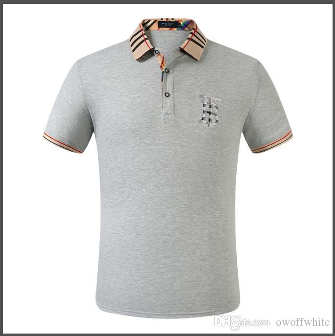 Горячая летняя дизайнерская новая мода Мужские рубашки повседневная печатная рубашка короткая мужская печать отворот шеи рубашка дышащая футболка размер M-3XL