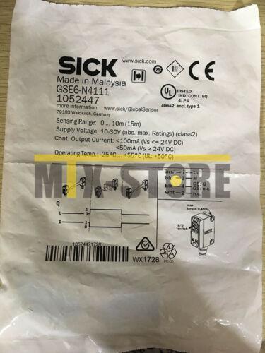 1PCS New SICK sensor GSE6-N4111 1052447