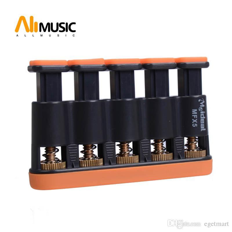 Meideal MFX5 Hand Finger Exerciser for Ukulele Guitar Bass Piano Orange/Grey Free Shipping