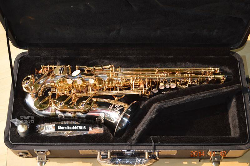 Выгравированный YANAGISAWA A-WO37 альт-саксофон никелированный Золотой ключ профессиональный саксофон мундштук с корпусом