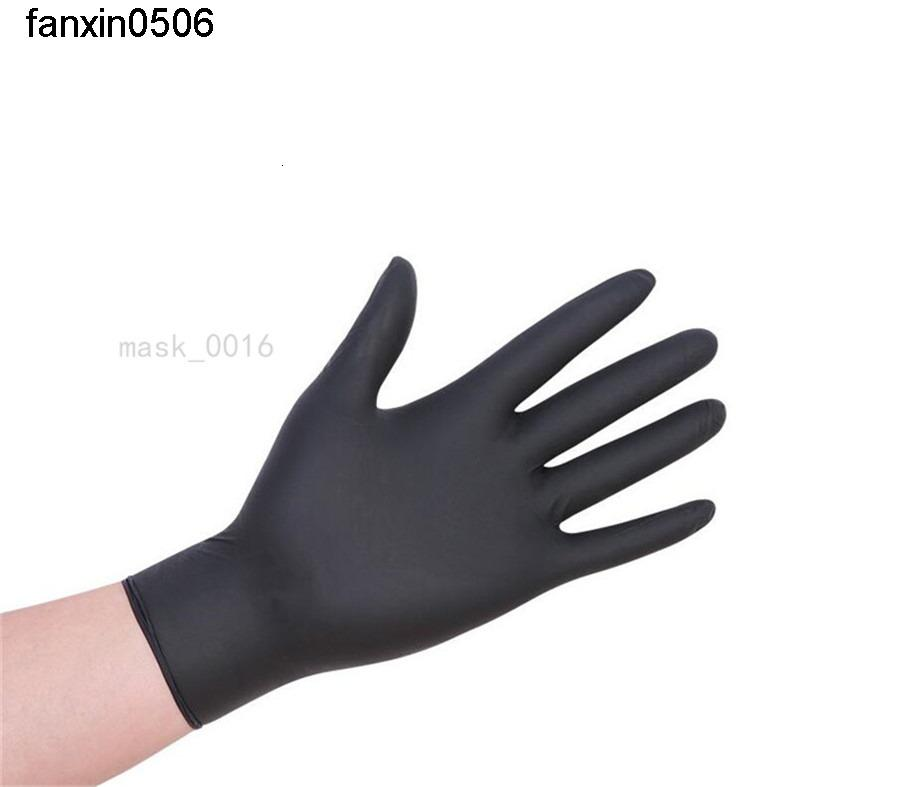 100pcs Black Blue Disposable Latex Home Cleaning Food Rubber Garden Gloves Universal For Left And Right Hand 350f