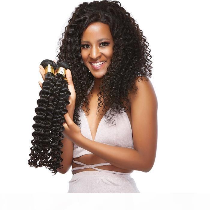 XBL Virgin cabelo encaracolado Humano 3 Pacotes Humano Brasileiro Weave Cabelo Top Venda extensões de cabelo humano