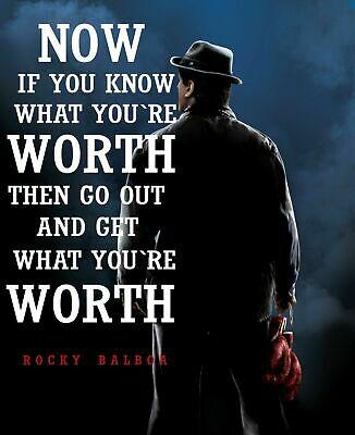 Rocky Balboa Quotes Cool Inspirational Movie Art Silk Poster 24x36inch 24x43inch 12597 Wall Art Vinyl Decals Wall Art Vinyl Stickers From