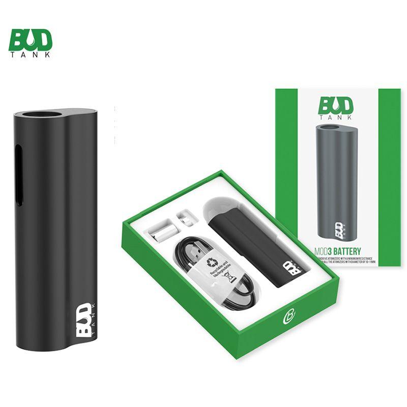 BUDTank Mod3 batería 390mAh Vape Mod Baterías 510 Tema de la batería para los cigarrillos vaporizador de Vape bolígrafos electrónicos Embalaje