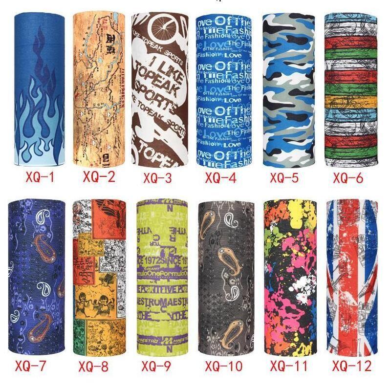 Lenço ao ar livre 248 cores Promoção Multifuncional Ciclismo Seamless Bandana Magia Cachecóis Mulheres Homens Hot cabelo banda lenço 1200pcs T1I2069