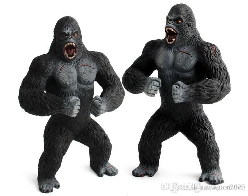 Sıcak Sinema King Kong Kafatası Adası 17cm ve Büyük boy 45CM Eylem Şekil Oyuncak Gorilla Koleksiyon Modeli Danışma dekorasyonu oyuncaklar çocuklar hediye