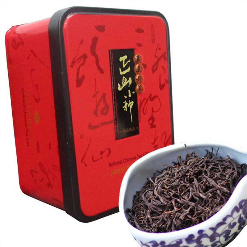104g Çin Organik Siyah Çay Lapsang Souchong Kırmızı Çay Yeni Pişmiş çay Yeşil Gıda Demir Kutulu Hediye Paketi Tercih