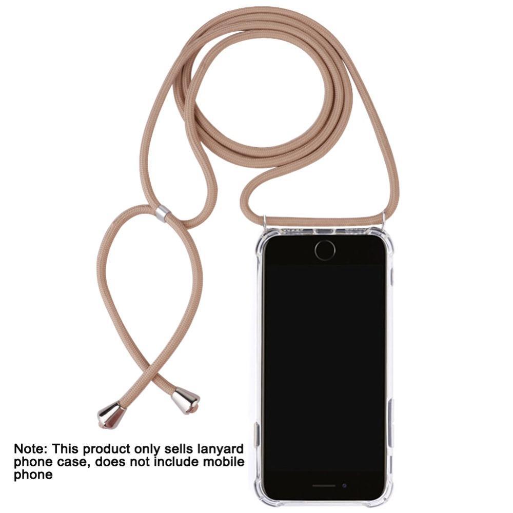 Чехол для телефона чехол ожерелье с веревочкой для iPhone 6 7 8 Plus 5 5S SE XR XS MAX X XS для Samsung S8 Plus S9 S10 S10 плюс облегченный Примечание 9