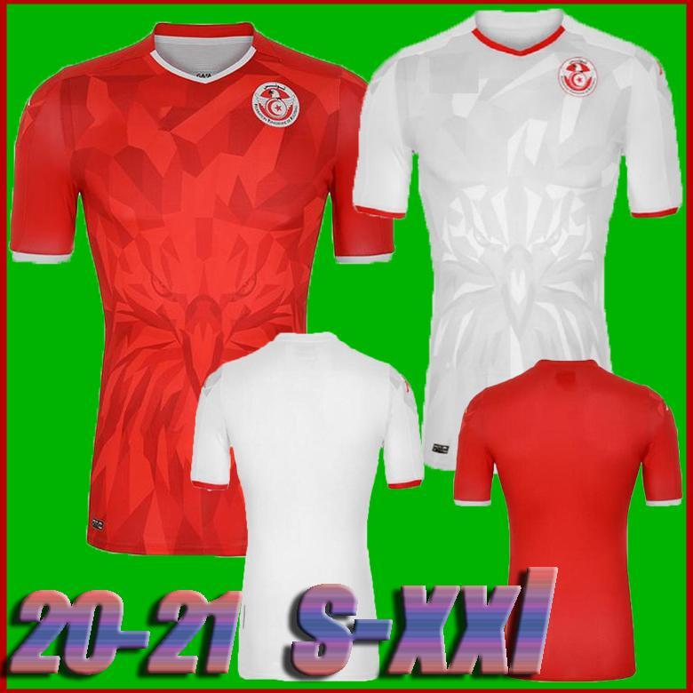 جودة التايلاندية 20 21 تونس لكرة القدم الفانيلة 2020 2021 المنتخب الوطني Msakni Khazri السليطي BEN YOUSSE HAMZA المنزل بعيدا قميص كرة القدم
