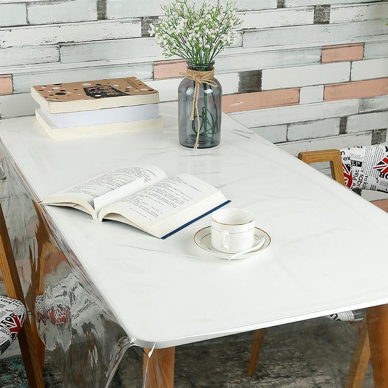 مفارش المائدة Pvc الشفافة الواقية من الماء غطاء مضادا للنفط