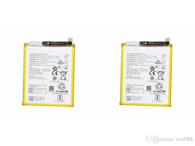 بطارية 2x 3000mAh HB366481ECW لهواوي P10 Lite / P20 Lite P Smart 5.6 لـ Nova Lite G10 WAS-TL10 WAS-AL00 WAS-LX1 WAS-LX1 WAS-LX
