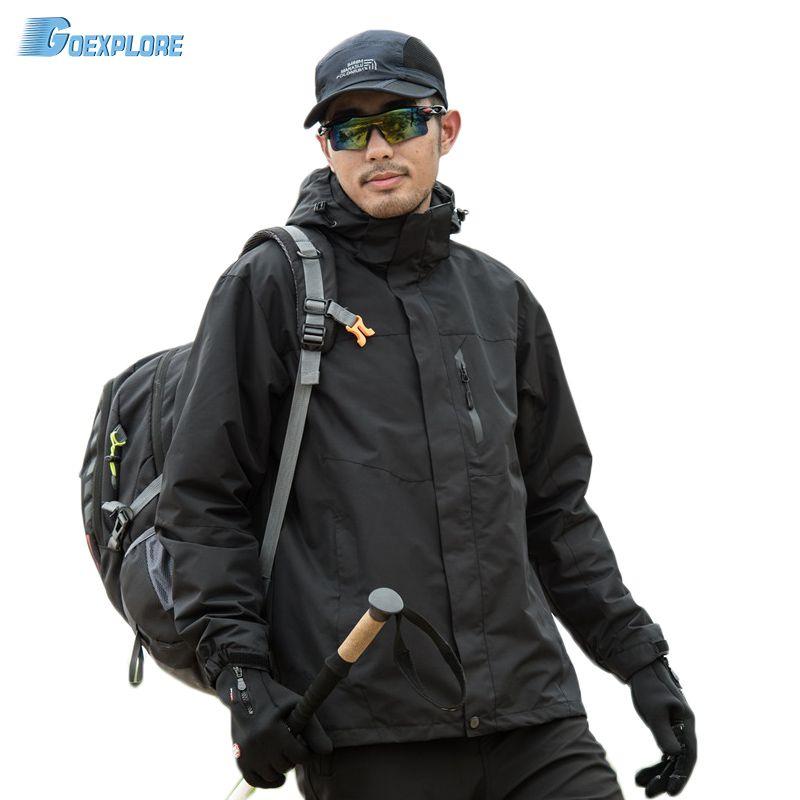 Climbing Jacket male 2020 winter Outdoor tDouble Layer 3 in 1 Coat Winter hiking Waterproof men's sports windbreakers