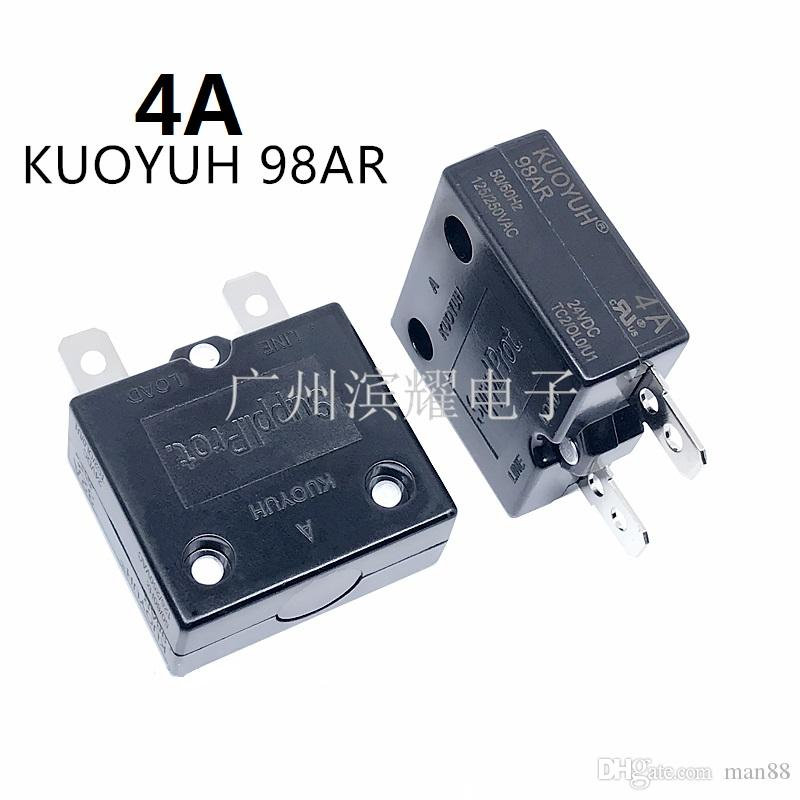 Taiwan KUOYUH Overcurrent Protector Overload Switch 4A 98AR Series Automatic Reset