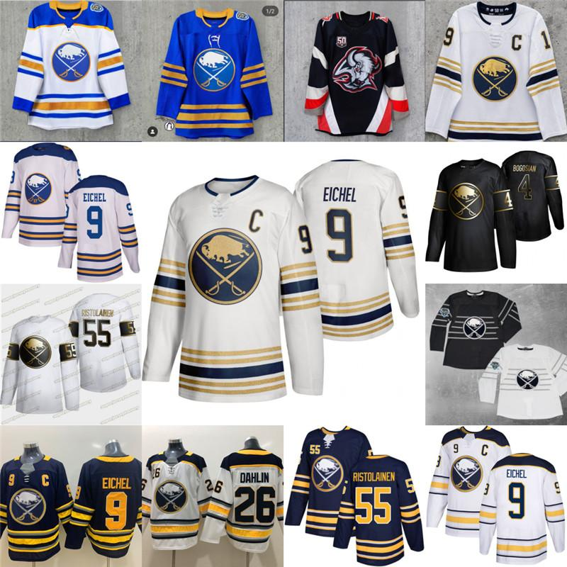 9 Jack Eichel Buffalo Sabres Jerseys Taylor Hall Jeff Skinner Rasmus Dahlin Rasmus Ristolainen Zach Bogosian Brandon Montour Kyle Okposo