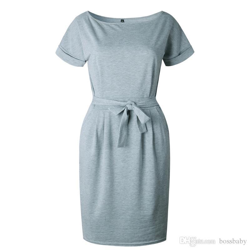 Mulheres Vestido Cinto Slim Fit Mulheres Roupas Saia Em Torno Do Pescoço Vestido de Manga Curta Plissada saia de Renda 41