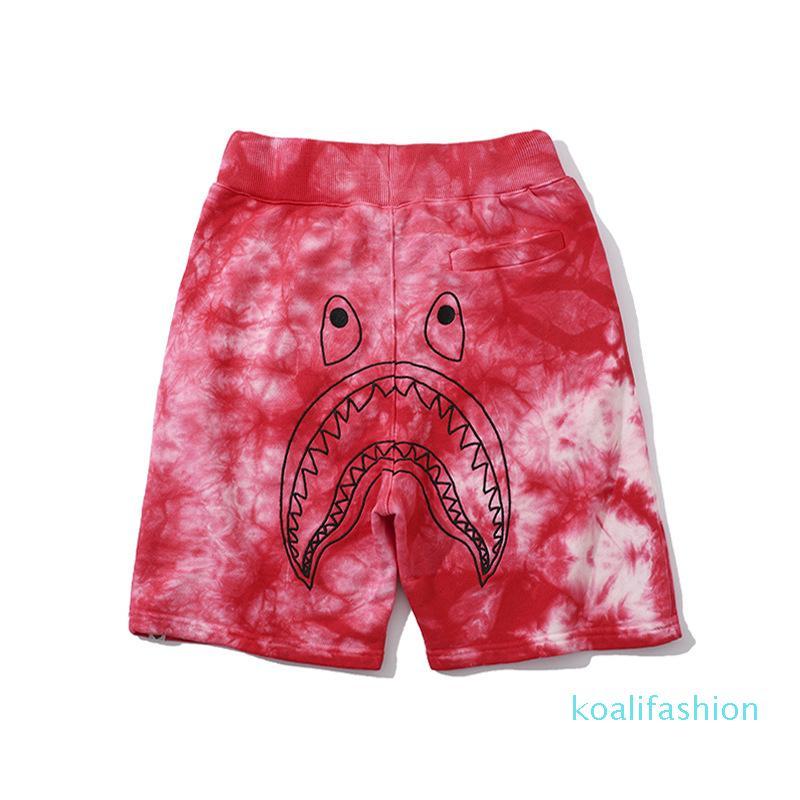 New Verão amante Camo Sports respirável Casual Shorts Impressão Rosa Verde dos desenhos animados Gradiente dos homens Shorts