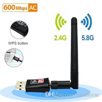 شبكة 600Mbps لاسلكية USB محول ثنائي الموجات اللاسلكية شبكة NIC عالي السرعة واي فاي الاستقبال اللاسلكي 11AC